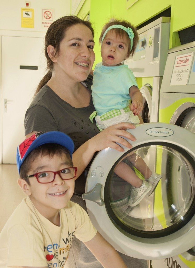 Familias usuarias de lavanderías de autoservicio Colada Expres